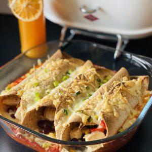 einfache chicken enchiladas rezept