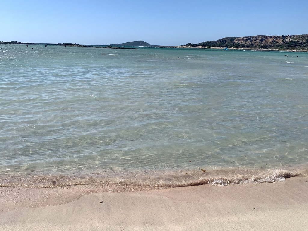 Pinker Strand Kreta