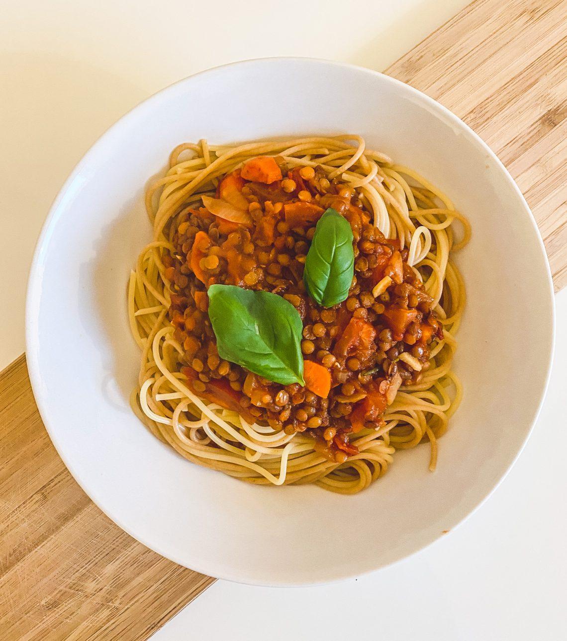 vegane bolognese aus linsen rezept