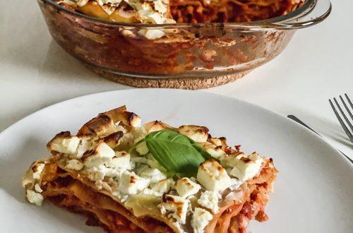 Vegetarische Linsen Lasagne