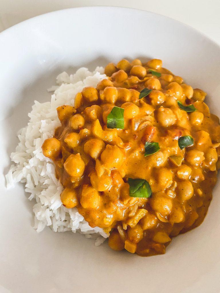 Kichererbsen-Curry Vegan mit Kokosmilch