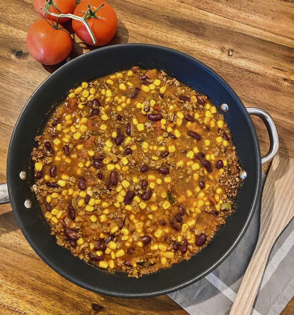 Chili con Carne mit Rinderhackfleisch