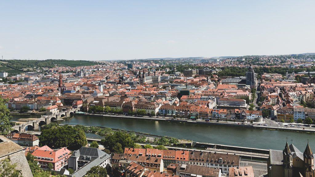 Ausblick auf die Stadt Würzburg