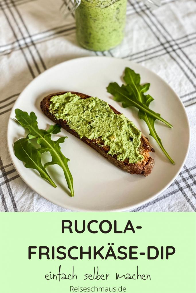 Rucola-Frischkäse-Dip Rezpt Pin