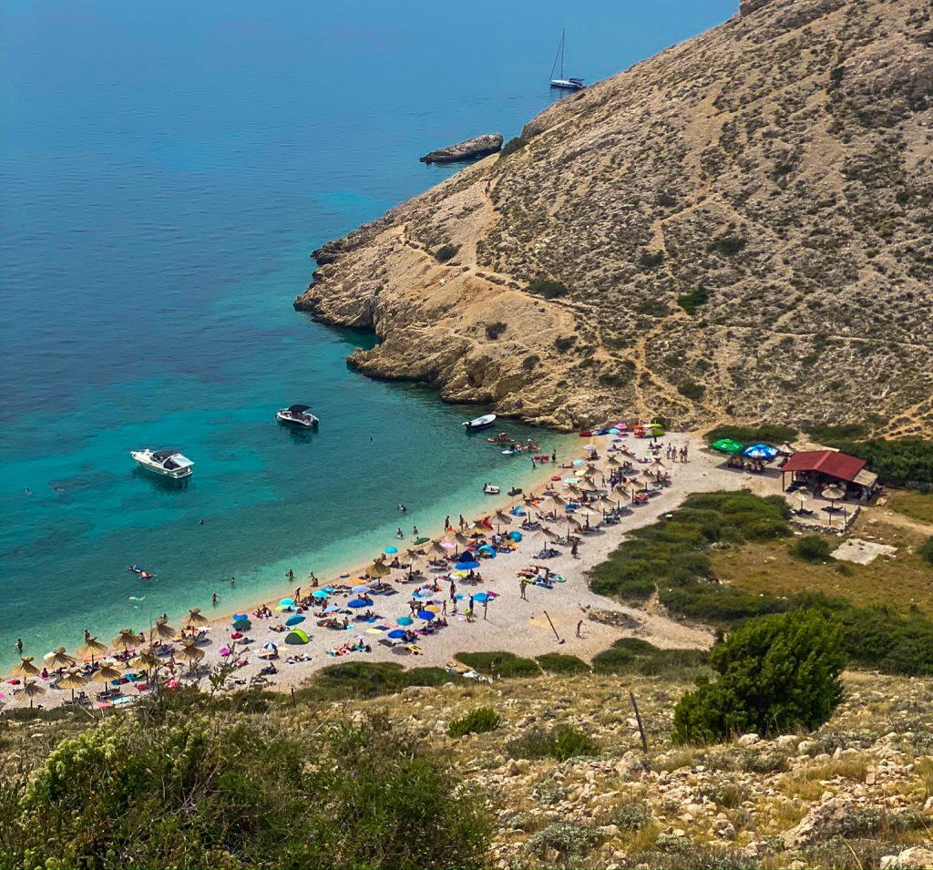Oprna Bay Strand Insel Krk Kroatien