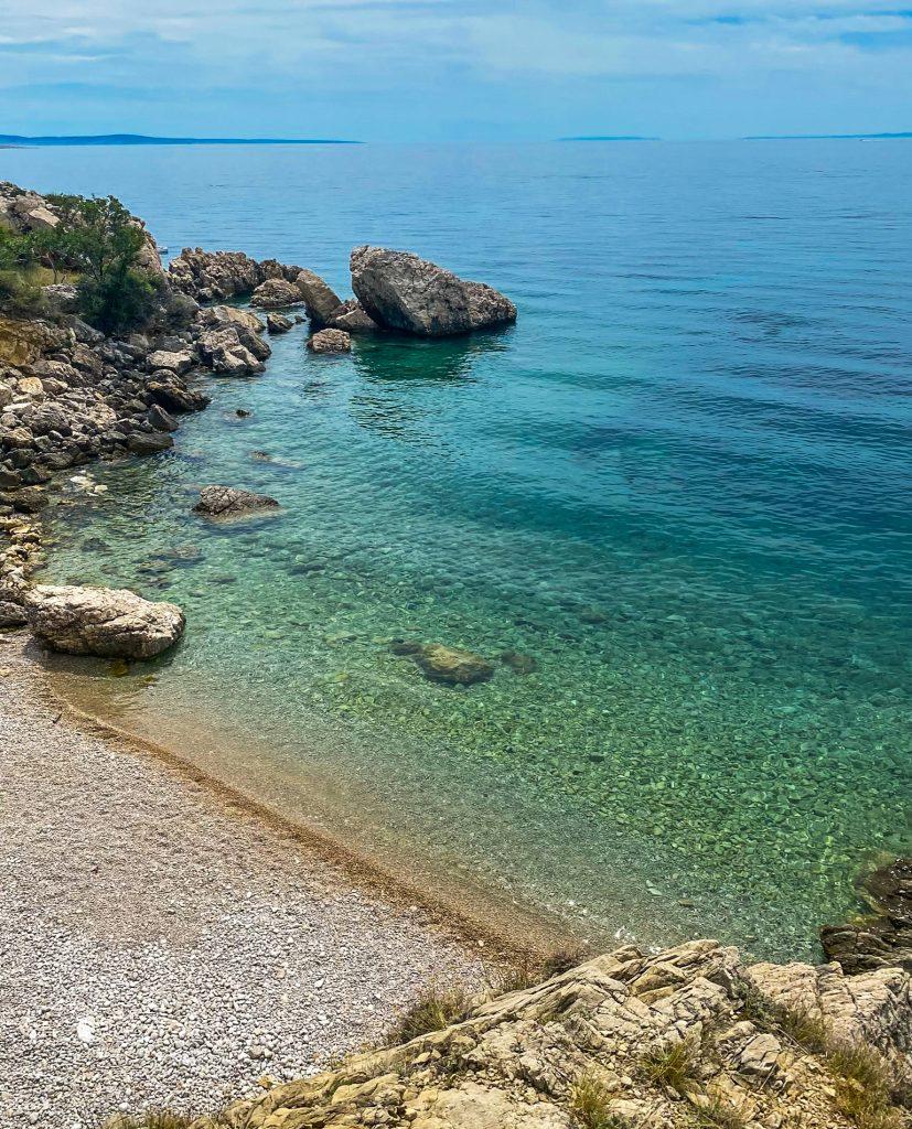 Oprna Bay Bucht Insel Krk Kroatien