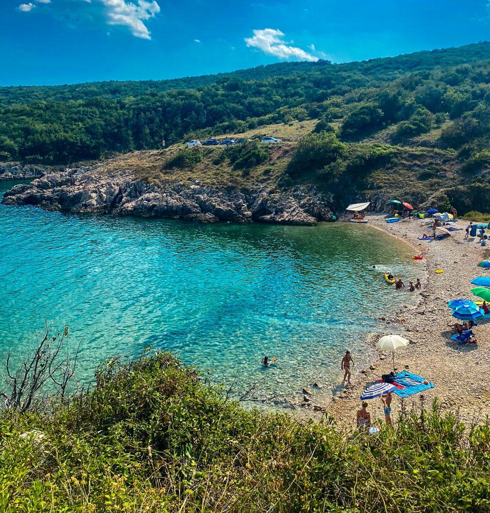Plaza Javna Strand Kroatien