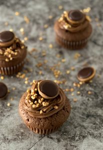 Toffifee-Cupcakes-mit-Nutella-Topping