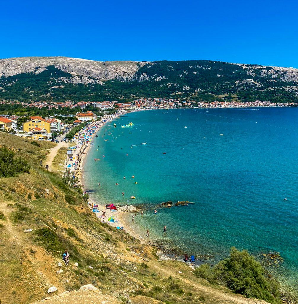 Vela Plaza Strand Baska Insel Krk