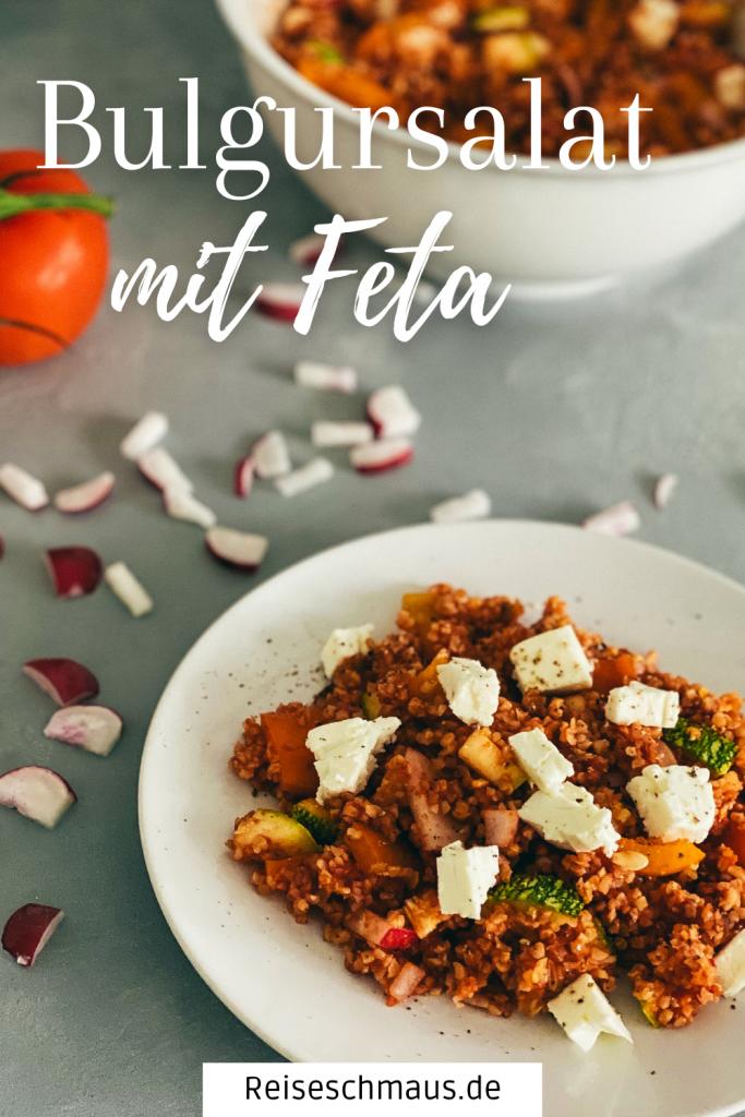 Bulgursalat mit Feta Pin