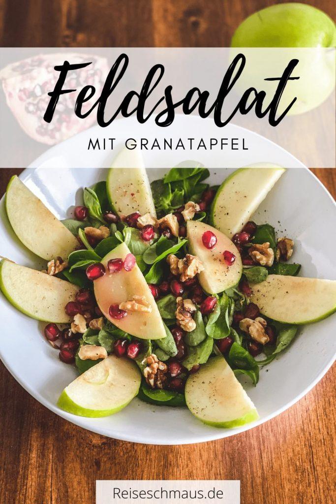 Feldsalat mit Granatapfel Pin
