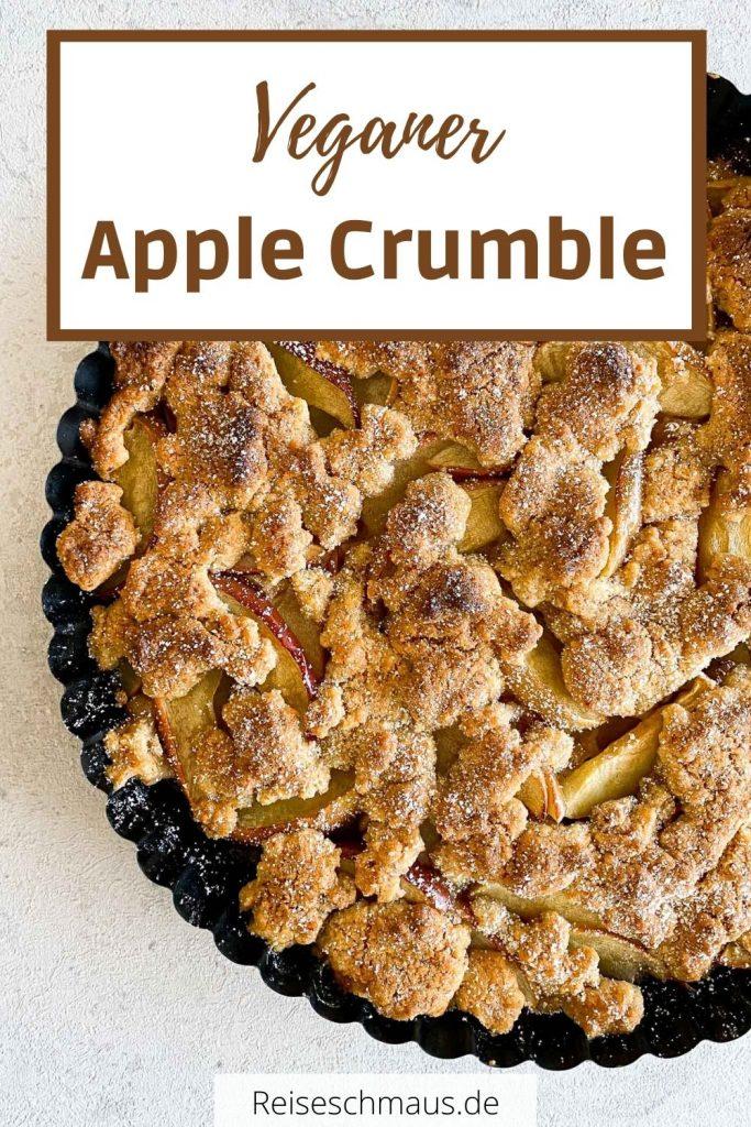 Veganer Apple Crumble Rezept Pin