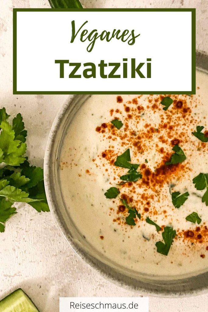 Veganes Tzatziki Rezept Pin