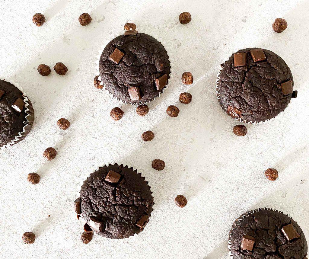 Veganes Schokomuffins Rezept einfach und lecker