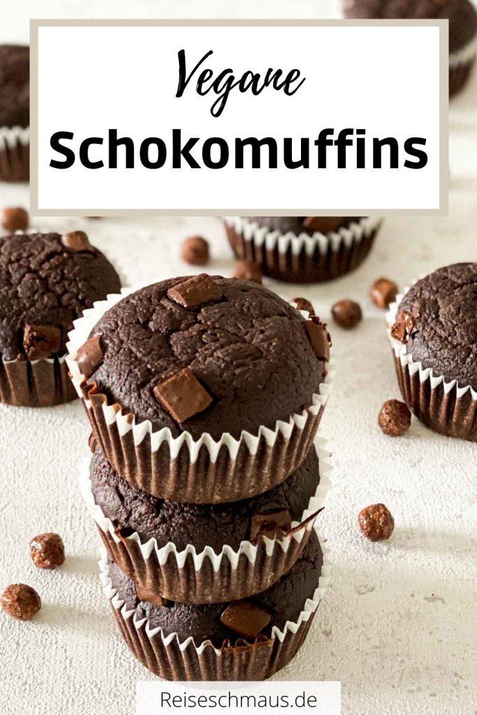 Vegane Schokomuffins Rezept Pin