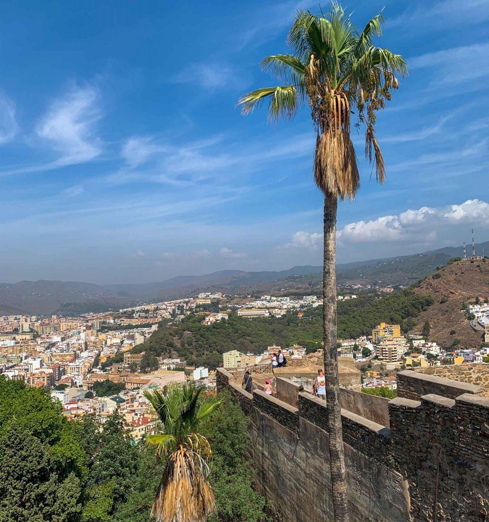 Castillo de Gibralfaro Burg Malaga Spanien