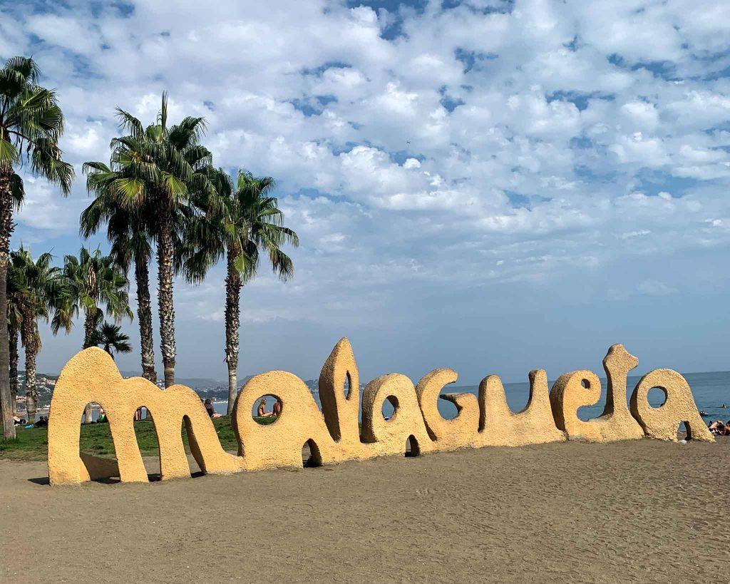 Malaga Malagueta Spanien Strand
