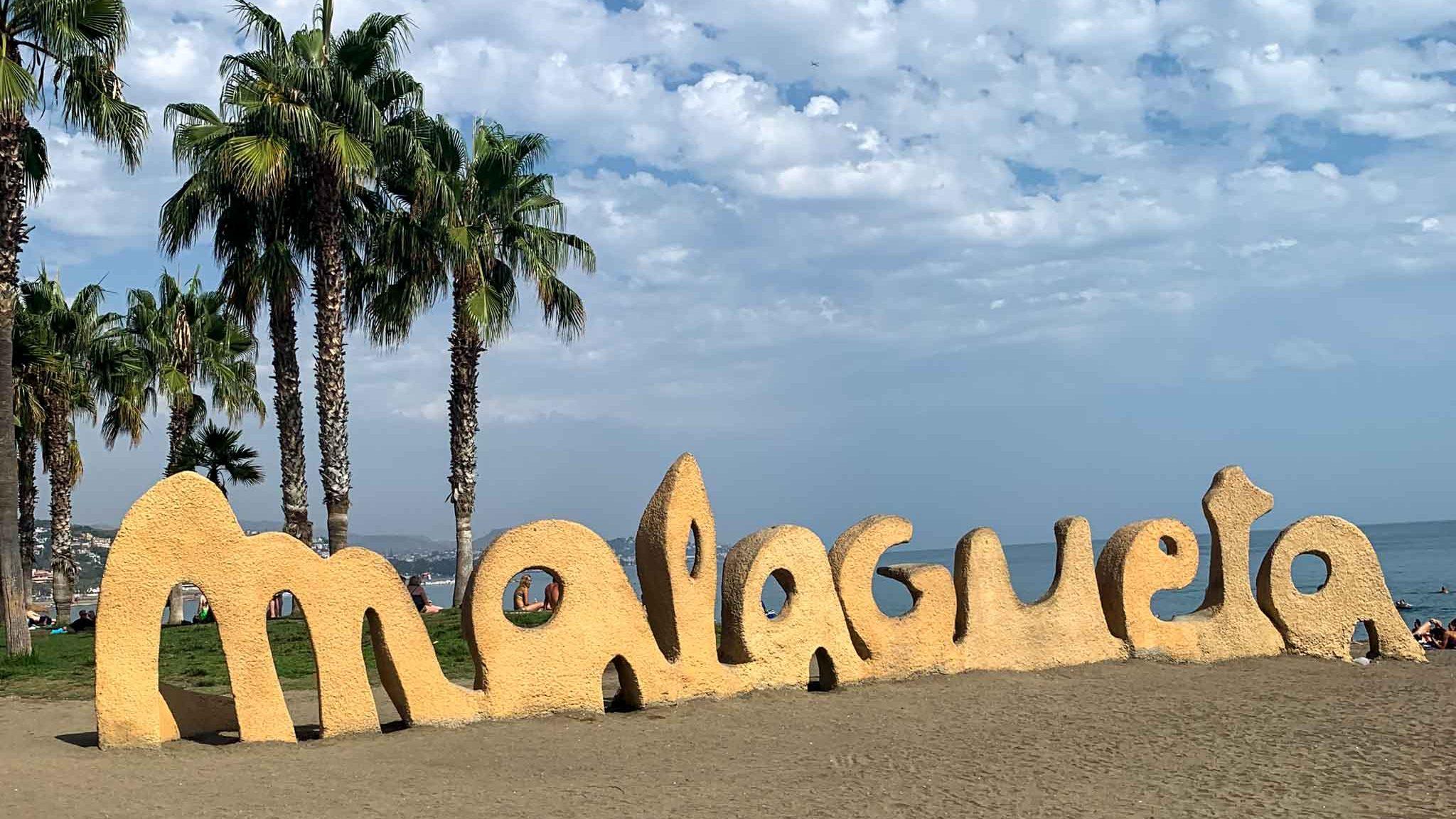 Strand Malaga Malagueta Spanien