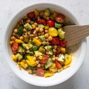 Einfacher Kichererbsen Salat